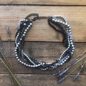 Jewelry - Luxury Multi Layer String Twist Faux Pearl Choker